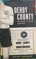 31/08/1960 Derby County v Middlesbrough