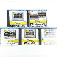 Professor Teaches Windows Me Word Excel FrontPage Outlook 2000 Lot of 5 Training