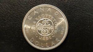 1964 CANADA SILVER DOLLAR CHARLOTTETOWN QC $1 Coin