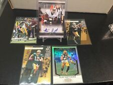 2017 Aaron jones rc auto packers lot #5 invest red hot w/ aaron rodgers+