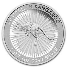 Kangaroo Canguro 1 ONZA 2017 Perth Mint 999 MONEDA DE PLATA Lingote NUEVO