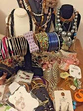 Huge Costume Jewellery Job Lot 90 Items Necklaces Bracelets Bangles Earrings