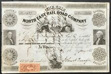 ERIE & NORTH EAST RAIL ROAD CO Stock 1866 Erie, PA. Became Buffalo & Erie RR VF+