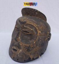 PREMIUM Tribal African Art - Lwena Chockwe Helmet Mask Figure Sculpture Statue