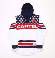 HUDSON PATRIOT CARTEL HOODY H5051292-WHT WHITE (MSRP $100)