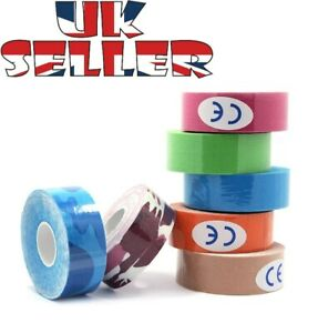 25mm x 5m Sports Kinesiology Elastic Physio Muscle Tape PRO Pain Relief Support