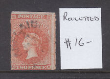 New listing South Australia: Two Pence Orange Qv Rouleted Used Wmk Large Star