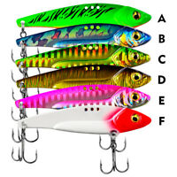 6pcs Metal VIB Fishing Lures Offshore Saltwater Crankbaits Jigs Hooks Multicolor