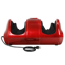 Shiatsu Foot Massager Kneading and Rolling Leg Calf Ankle w/Remote Red Home