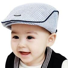 Free Shipping Baby Infant Kid Boy Girl Stripe Beret Cap Peaked Baseball Hat 1-3Y