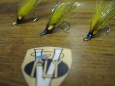 3 V Fly Size 12 Signature Blue & Yellow Cascade Patroit Double Salmon Flies