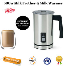 NEW Milk Frother Warmer Coffee Cappuccino Latte Electric Froth Maker Warm Cafe