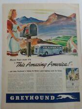 1943 Greyhound bus this amazing America original color AD