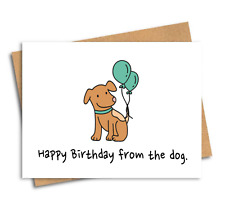 Funny card / From the dog / Friends of Henry / Birthday card / Greeting card