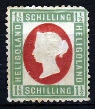 HELIGOLAND Queen Victoria 1873 1½ Sch Embossed Head Die I Rose & Green SG 9 MINT