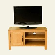 Waxed Oak TV Cabinet Unit Stand Media Storage Furniture Entertainment Sideboard