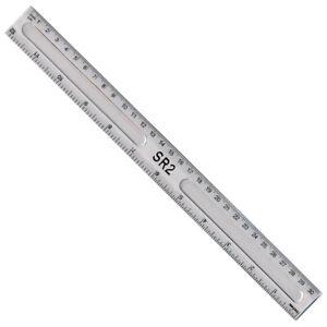"30cm Ruler - 12"" - Clear Transparent Plastic - Foot Long - School Office"