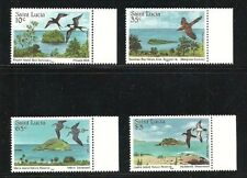 Album Treasures St Lucia Scott # 770-773  Nature Reserves (birds) MNH