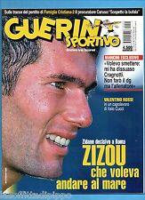 GUERIN SPORTIVO-1999 n.42- ZIDANE-MANCINI-BUFFON-VALENTINO ROSSI