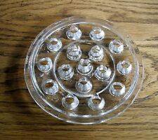 "Vintage 5"" GLASS Clear 16 Holes Flower Frog ~"
