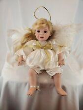 "Marie Osmond~Heaven's Holiday Helper~8"" Porcelain Doll~BEAUTIFUL"