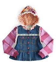 NEW Matilda Jane Girls 4 4T Labyrinth Convertible Jean Jacket Hooded Vest Pink