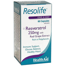 Health Aid Resolife Essence of Resveratrol 60 Vegan Capsules