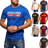 Jack & Jones Herren Kurzarmshirt Print Shirt Herrenshirt Freizeitshirt Casual