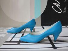 ferara Damen Schuhe Pumps türkis 80er TRUE VINTAGE 80s women's high heels NOS
