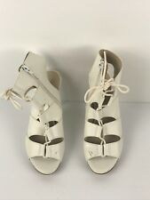 Lipstik Womens Stiletto Shoes Heels White High Top Leather Size 8