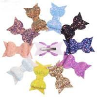 Fashion Bow Hair Clips Glitter Kids Bowknot Hairpins Girl Headwear Barrettes