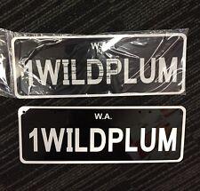 Custom Plates WA Wild Plum 1WILDPLUM Classic Ford Colour