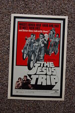 The Jesus Trip Lobby Card Movie Poster Waco's Bunch Rode Hard to meet there Fate