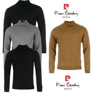 Pull tricot Homme Pierre Cardin Paris col roulé 6 coloris classe mode S au XXL