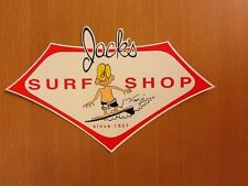 Surfboard sticker Jack's Surf Shop surfing Vintage Style Large