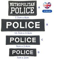 Metropolitan Police Logo Embroidered Patch Sew  Iron-on patch Heddlu police