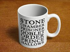 Harry Potter Books Stone Chamber Azkaban Goblet Order Prince Hallows Coffee Mug