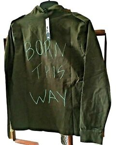 Canvas Jacket With Writing On Hand Painted 10-12 M