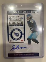 2019 Panini Contenders Jayon Brown Rookie Ticket Rookie Auto RC