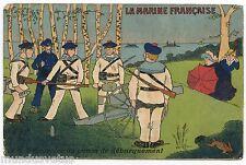 LA MARINE FRANCAISE . L'excercice du canon de débarquement . FRENCH NAVY