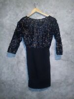 Black Floral Roset Formal Dress Sz M