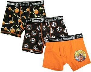 DRAGON BALL Z 3-Pack Underoos Boxer Briefs Underwear NWT Boys Sizes 4 6 8 10 $20