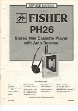 FISHER Service Manual Anleitung PH26   B1465