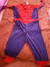 Spiderman Costume Kids  Disguise  Superhero Jumpsuit size 7 to 10 NO MASK