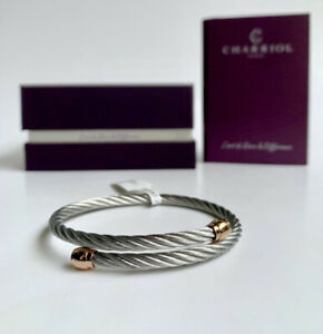 Charriol * Bangle Celtic Sceau Silver & Rose Gold PVD Stainless 04-102-00144-1M