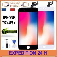 ECRAN LCD VITRE TACTILE SUR CHASSIS POUR IPHONE 7/ 7+ /8 / 8+ Noir Blanc + OUTIL