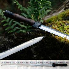Handmade Chinese Sharp Manganese Steel Wushu Sword KungFu Tang Jian Full Tang
