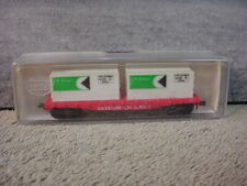 N Scale Model Power No 4001 Flatcar w/2 20' Containers CP Ships Original Package