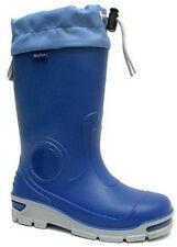 Kids Boys Girls Wellington Boots Rainy Snow Wellies -Silver ions Ag+