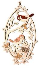 Fensterbild Vögel Erzgebirge